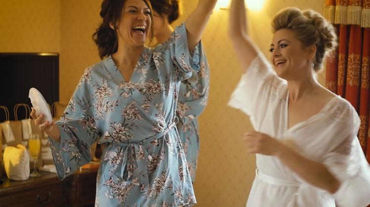bride-and-bridesmaid-dance