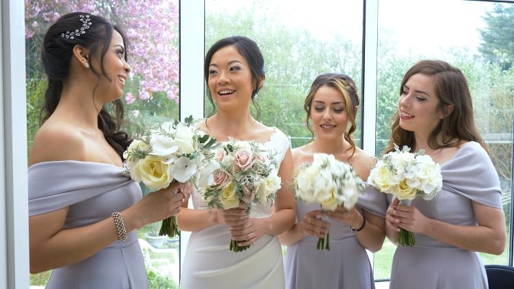 wedding videographer leeds oulton hall town hall montage videography bridesmaids