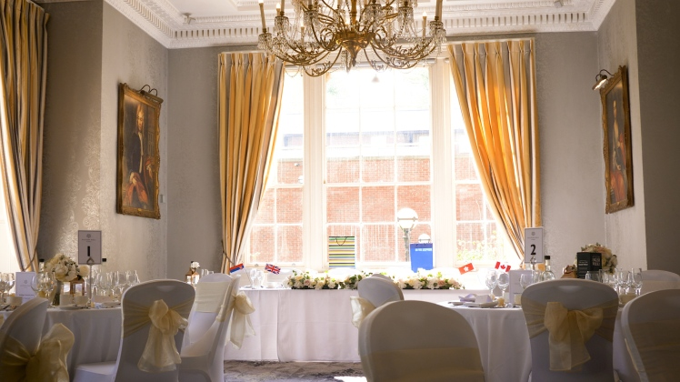 wedding videographer leeds oulton hall montage videography dining suite